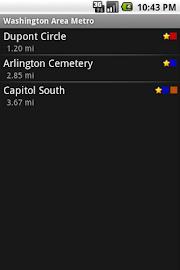 Washington Area Metrorail Screenshot 1