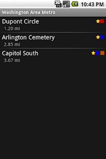Washington Area Metrorail Screenshot 3