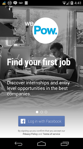 WePow.Jobs: Find your 1st job.