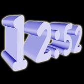 3D Blue Digital Clock