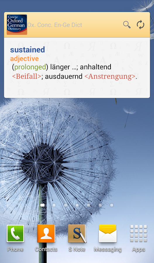 Concise Oxford German Dict. TR - screenshot
