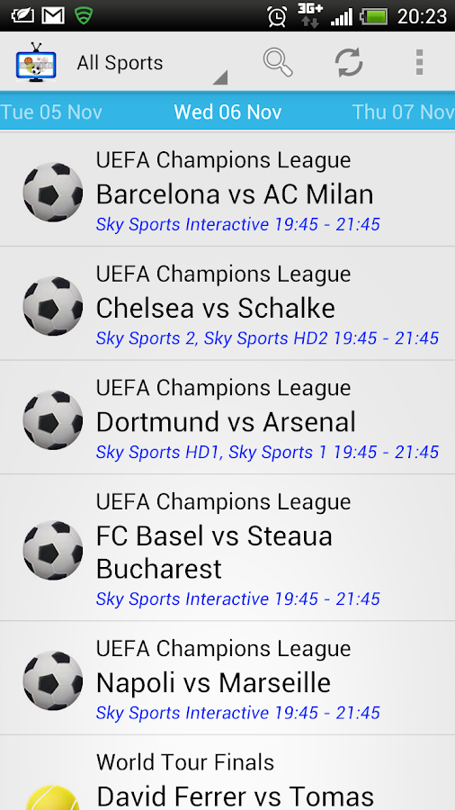 Live Sport On TV Worldwide- screenshot