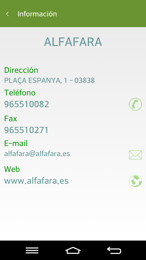 Info Municipios Alicante- screenshot
