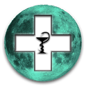 Lunar Calendar. Health icon