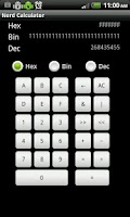 Screenshot of Nerd Calculator - Binary/Hex