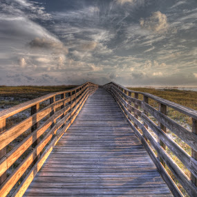 Boardwalk to Paradise by Shelley Patterson - Buildings & Architecture Bridges & Suspended Structures ( water, beaches, gulf of mexico, alabama point, boardwalk, orange beach,  )