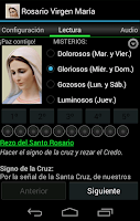 Screenshot of Rosary Virgin Mary