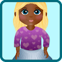 doll dress up game icon