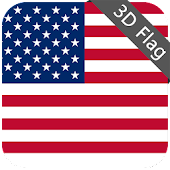 USA Flag - High Quality 3D