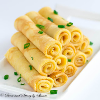 Savory Cheese Crepes.