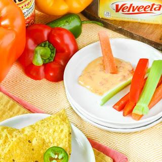 RO*TEL and VELVEETA Famous Queso Dip.