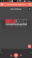 Screenshot of 107.9 The Fox