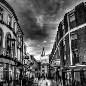 My Temple by Simon Eastop - Black & White Buildings & Architecture ( wales, stadium, mono, rugby, cardiff )