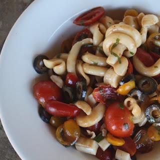 Balsamic Tomato Salad with Trottole and Mozzarella