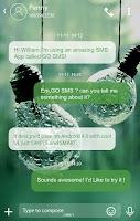 Screenshot of GO SMS PRO RAINY THEME