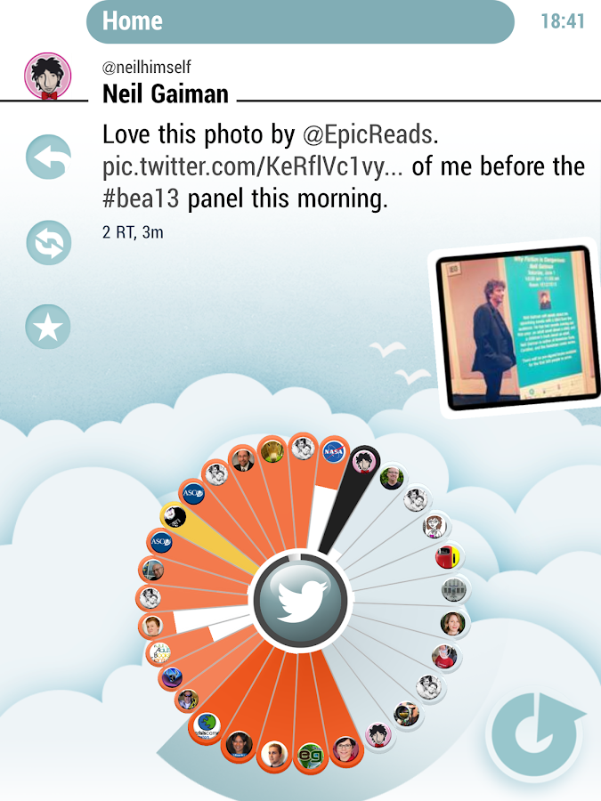 twheel for Twitter - screenshot