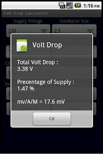 BS 7671 VOLT DROP CALCULATOR - screenshot thumbnail