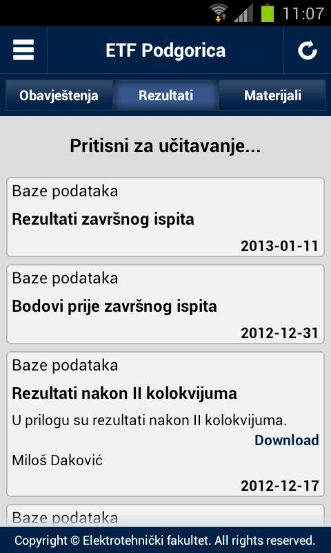 ETF Podgorica - screenshot