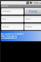 Screenshot of Norwegian Amateur  Radio DB