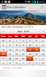 Peru Calendario 2014 - screenshot thumbnail