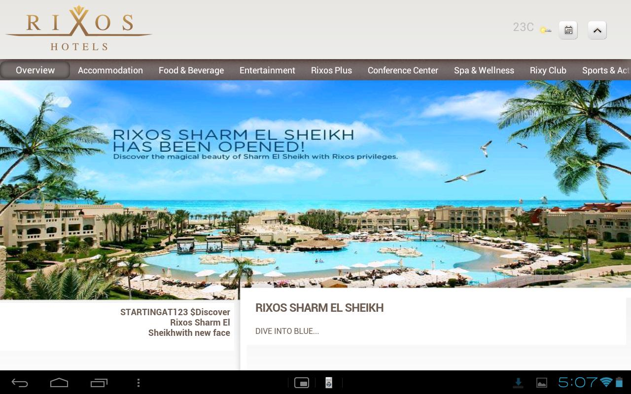 Rixos Hotels - screenshot