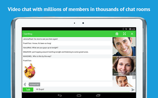 Camfrog Video Chat for Tablets
