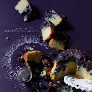 Gluten-Free Coconut Blueberry Cake.
