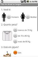 Screenshot of Taxa de Álcool no Sangue