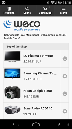 WECO E-Commerce Mobile Demo