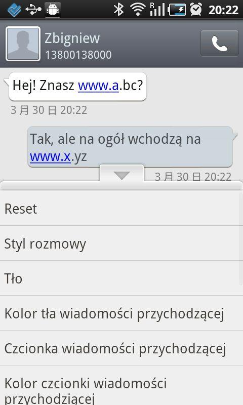 GO SMS Pro Polish language - screenshot
