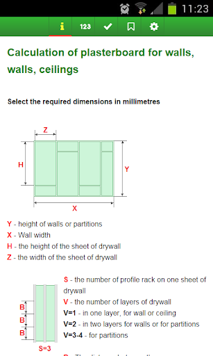 Calculation of drywall
