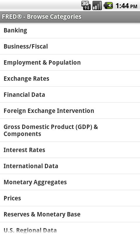 FRED Economic Data- screenshot