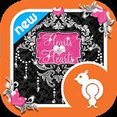 Hearts n Hearts Theme Go SMS