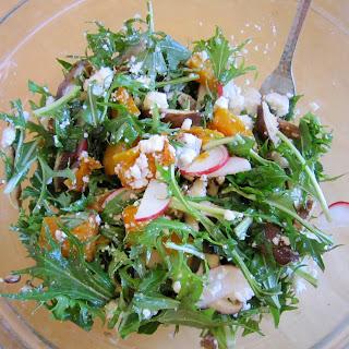 Autumn Salad with Roasted Squash, Apple, Radish and Goat Cheese