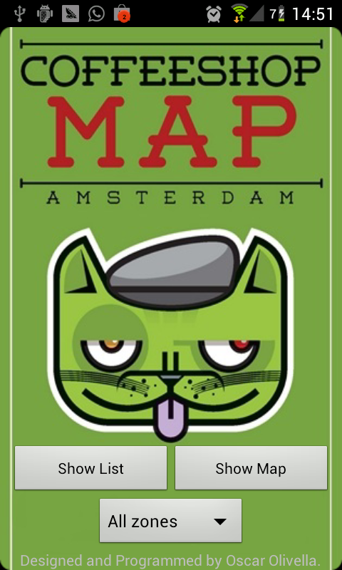 Coffeeshop Map Amsterdam- screenshot