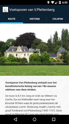 Voetsporen van V.Plettenberg