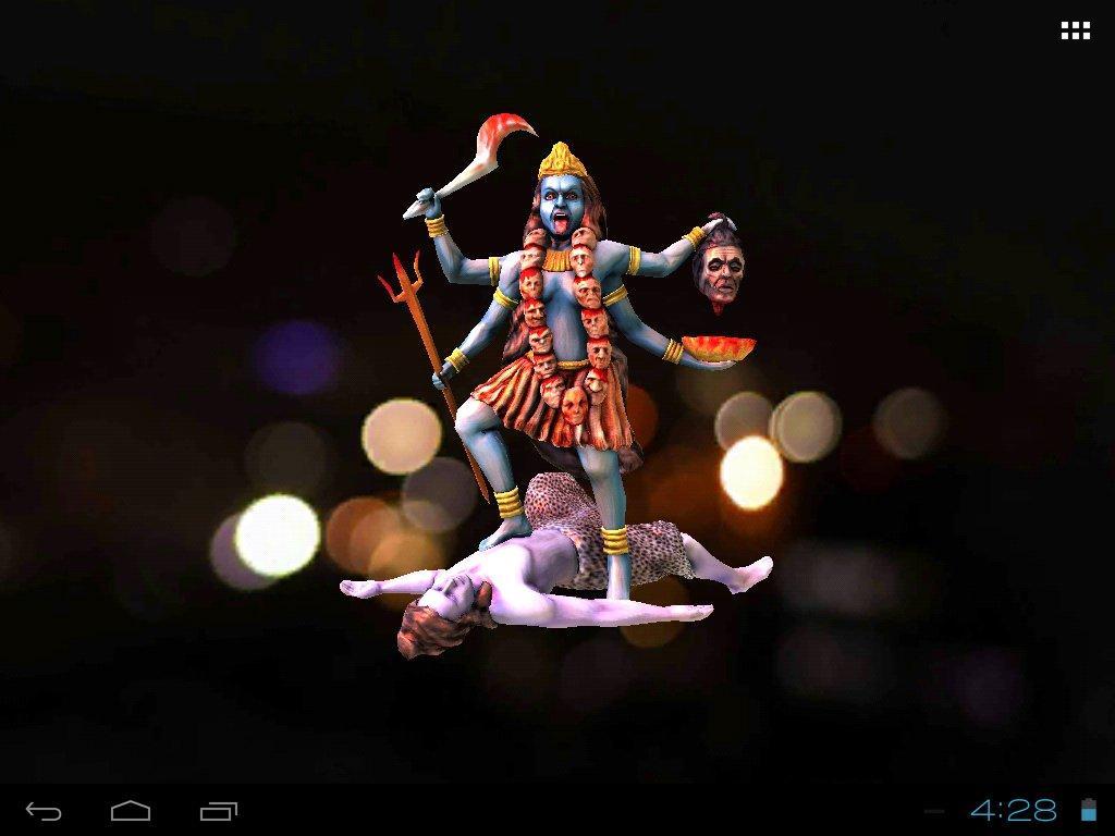 Wallpaper download karne wala apps - 3d Maa Kali Live Wallpaper Screenshot