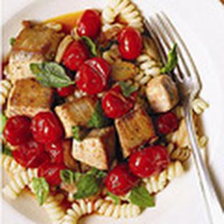 Pasta with Mahimahi, Tomatoes, and Basil