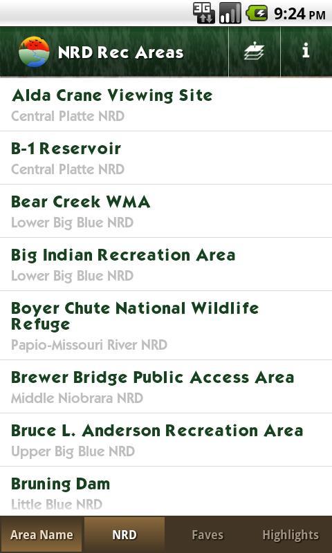 NRD Outdoor Recreation Areas- screenshot