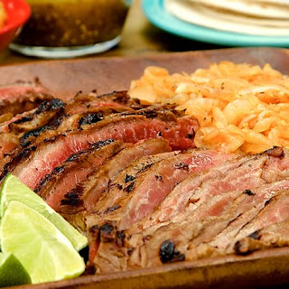 Grilled Skirt Steak & Chipotle Onions