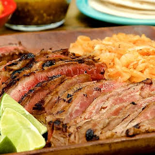 Grilled Skirt Steak & Chipotle Onions.