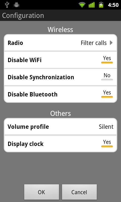 Bedside Mode widget- screenshot