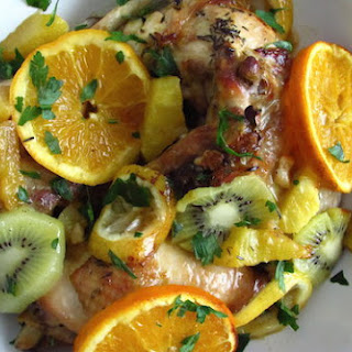 Chicken With Fruit.