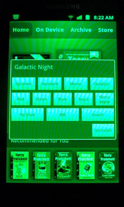 Galactic Night [root, Samsung] - screenshot