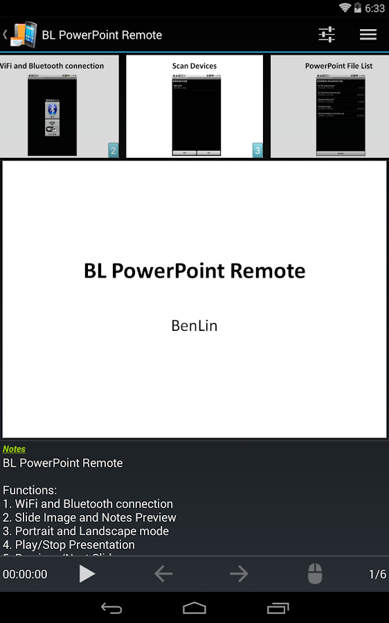 BL PowerPoint Remote - Free - screenshot