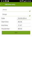 Screenshot of TimePunch Mobile