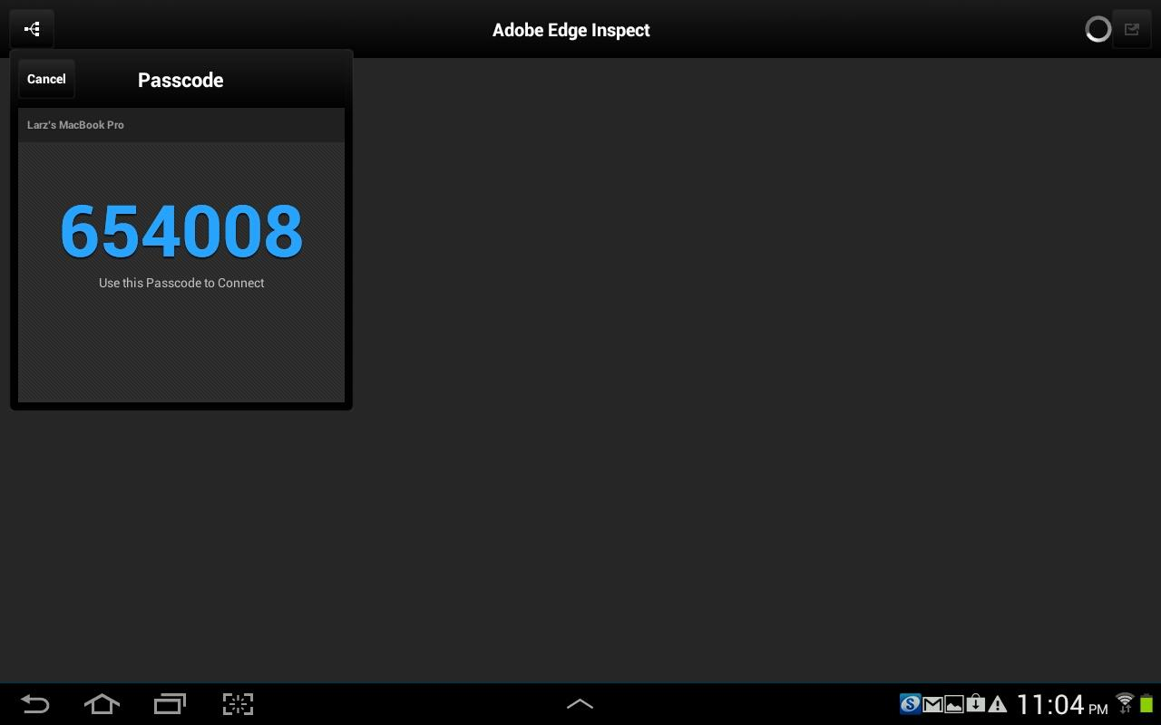 Adobe Edge Inspect CC - screenshot