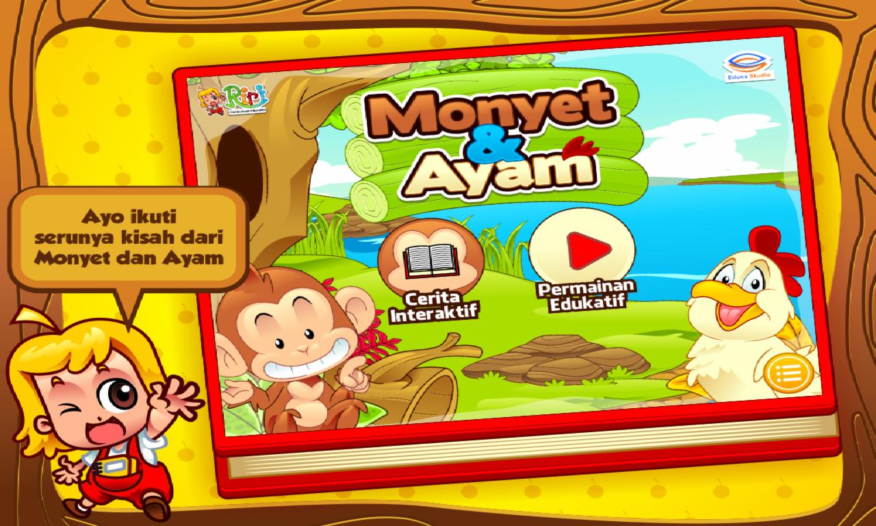 Cerita Anak Monyet Dan Ayam Apl Android Di Google Play