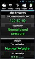 Screenshot of Blood Pressure lite