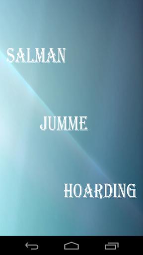 Salman Jumme Hoarding